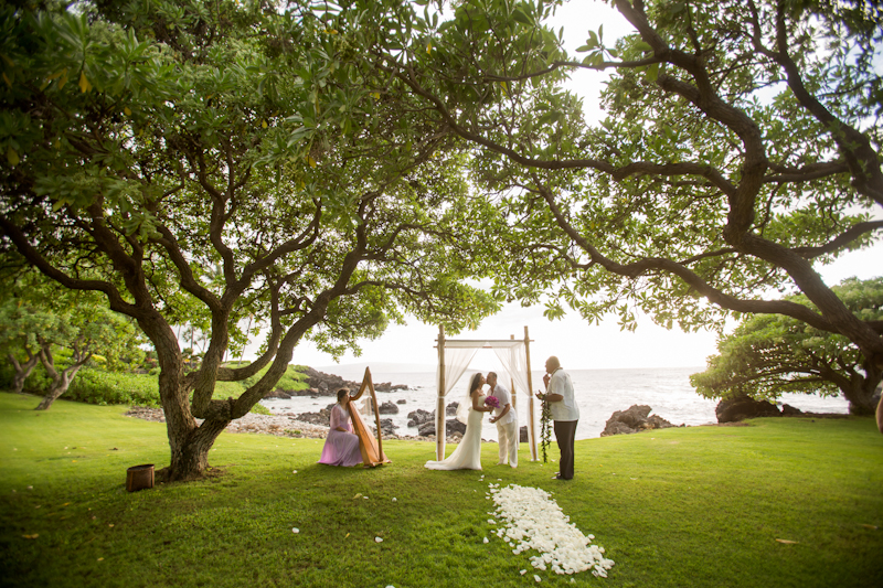 Romantic Kukahiko Estate Maui Elopement of Dayana + Steve