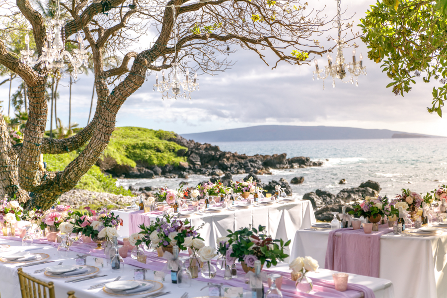 Dusty Rose Maui Wedding