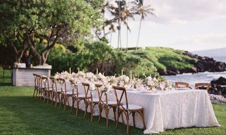 Blush + White Romance at the Kukahiko Estate